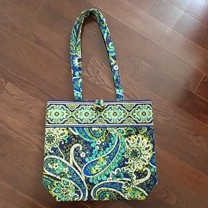 NWOT Vera Bradley tote - green and blue paisley